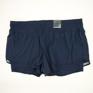 NWT Layered Navy Running Workout Short 3X Size 3x